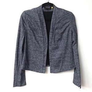 LYSSÉ Blue Spacedye Open Sweatshirt Cardigan